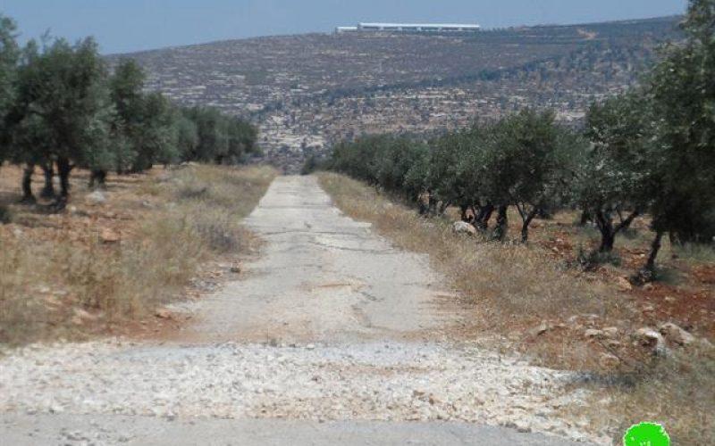 Itamar colonists ban surveying works in Aorta-Yanun road