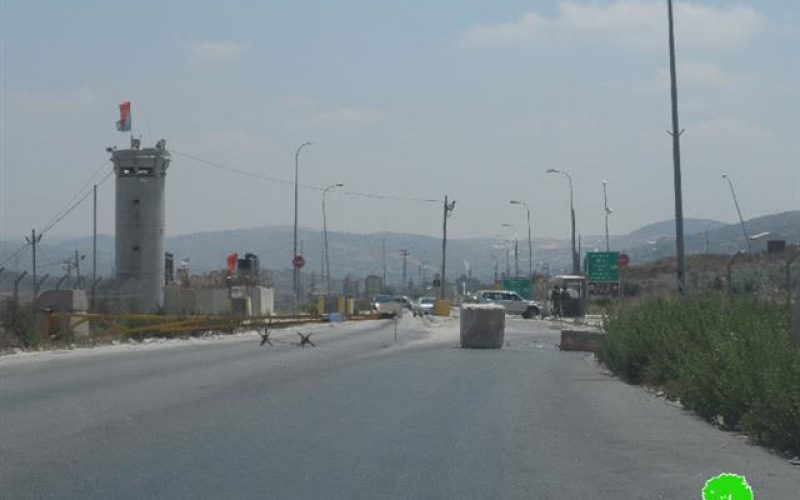 The Israeli occupation army shuts down Huwwara checkpoint for the second time during July
