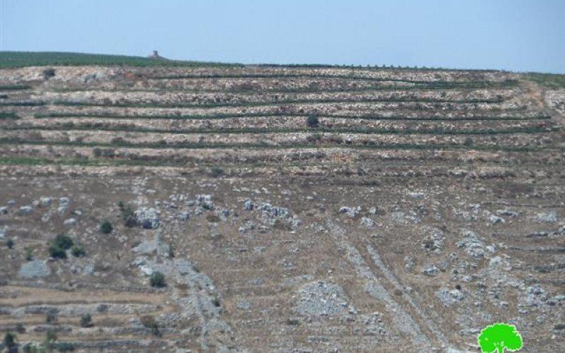 """الاستيلاء على المزيد من الأراضي لصالح توسعة مستعمرة """" براخا"""""""