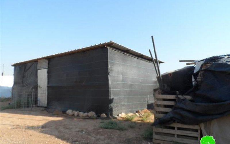 Stop-work orders in the Jericho village of Jiftlik