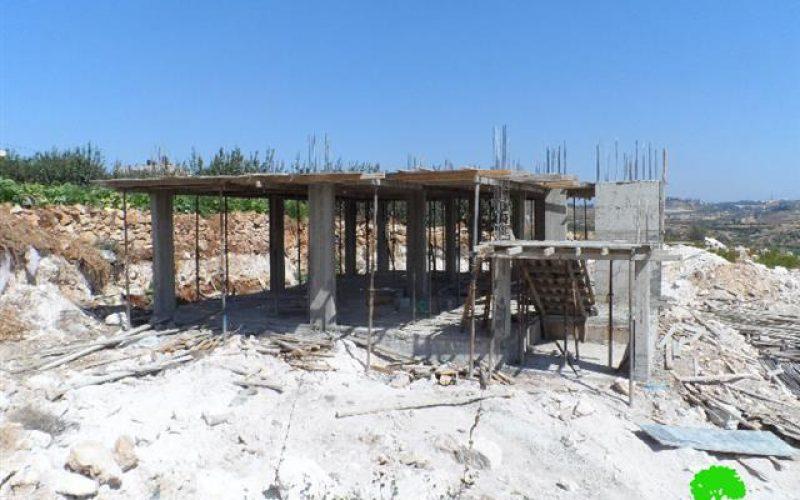 Stop-work orders on structures in the Hebron village of Beit Ummar