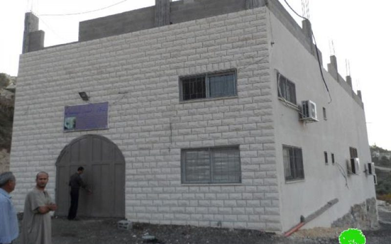 Stop-work orders on structures in the Qalqiliya village of Jit