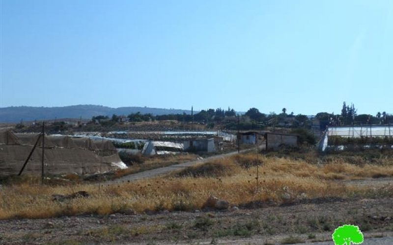 Extending the validity of a land grab on 15 dunums in the Nablus village of Aqraba
