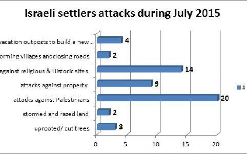 Israeli Violations in the Occupied Palestinian Territory – July 2015