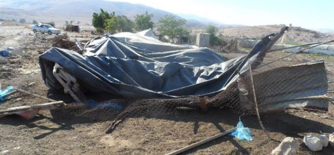 Demolitions of structures in the villages of Northern Jericho