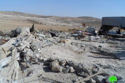 الاحتلال يهدم خيام للسكن وحظيرة في الرهوة جنوب الظاهرية