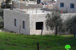 The Israeli occupation demolishes an under construction residence in Bethlehem