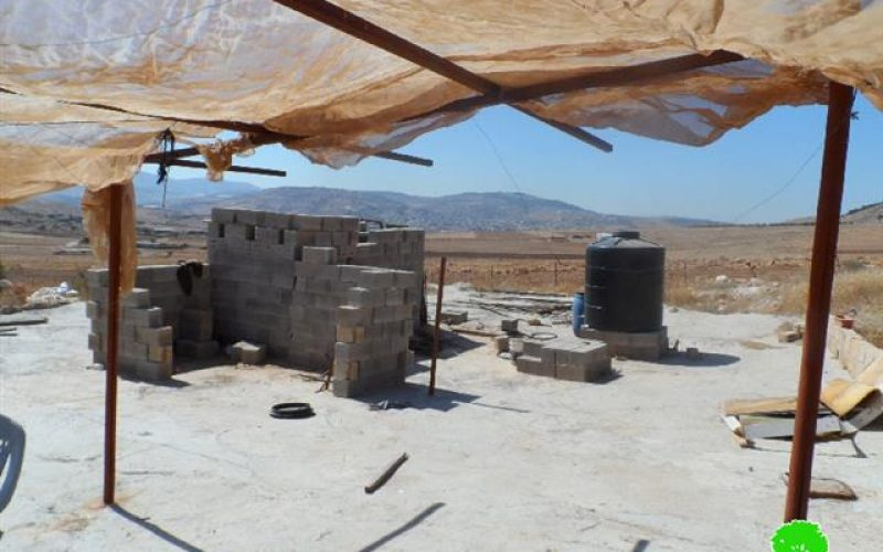 Stop-work order on structures in the Tubas village of Atuf