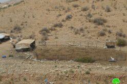 إخطار بوقف البناء لعدد من المنشآت السكنية والزراعية في منطقة النويعمة وقرية الجفتلك