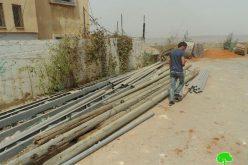 منع إمداد الآبار الارتوازية غرب قرية جيوس بالكهرباء
