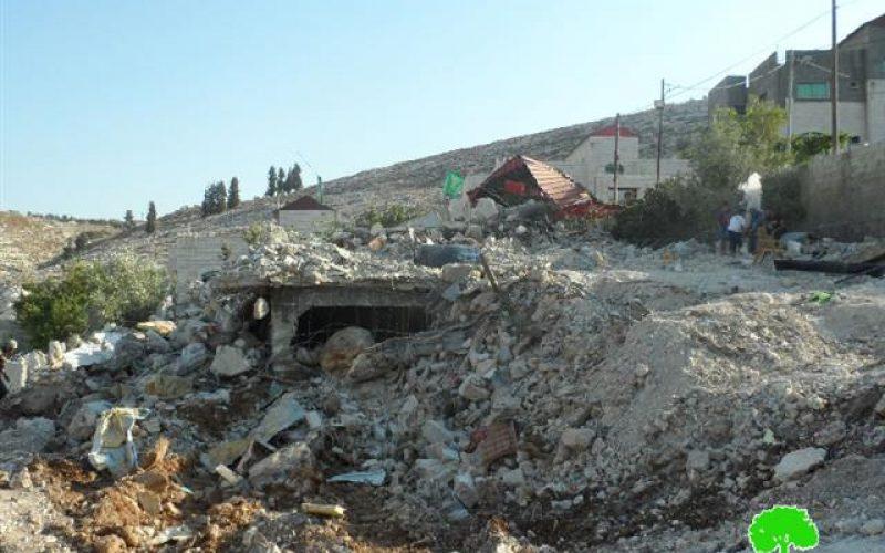 تدمير منزل عائلة أبو الهيجا في ضاحية الهدف شمال مدينة جنين