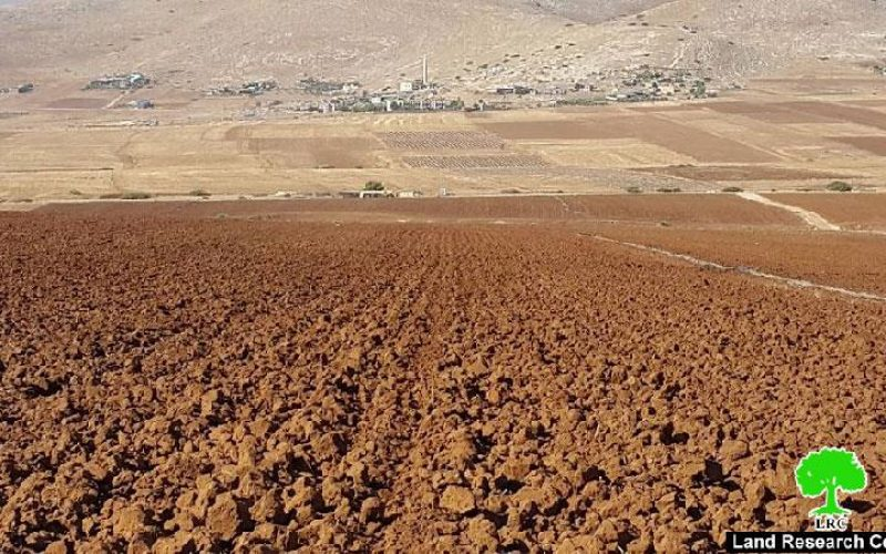 Confiscation order on a plot in the Tubas area of Sahel Al- Bikai'a