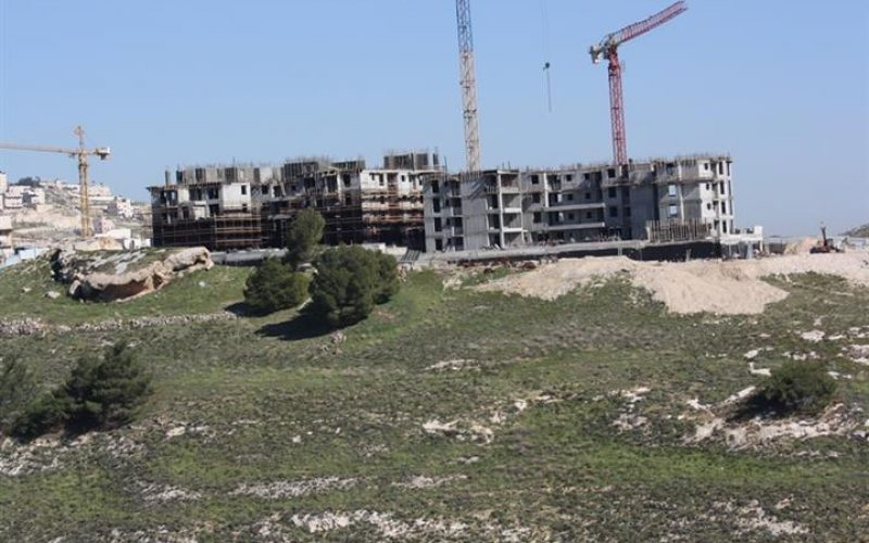 """In addition to 1079 caravans""<br> Israel builds more than one million square meters in 162 Israeli settlements between 2012 and 2014"
