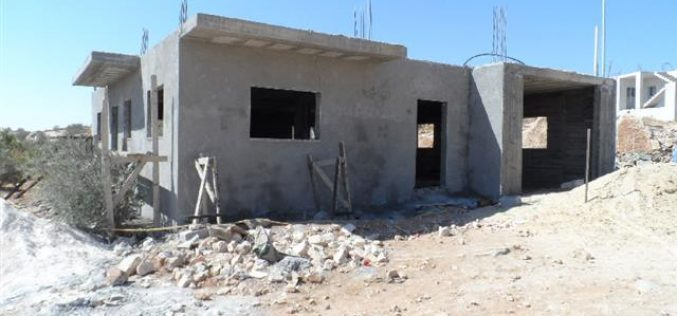 Stop-work order on a residence in the Hebron village of Yatta