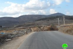 The Israeli occupation close the main road of Aorta village