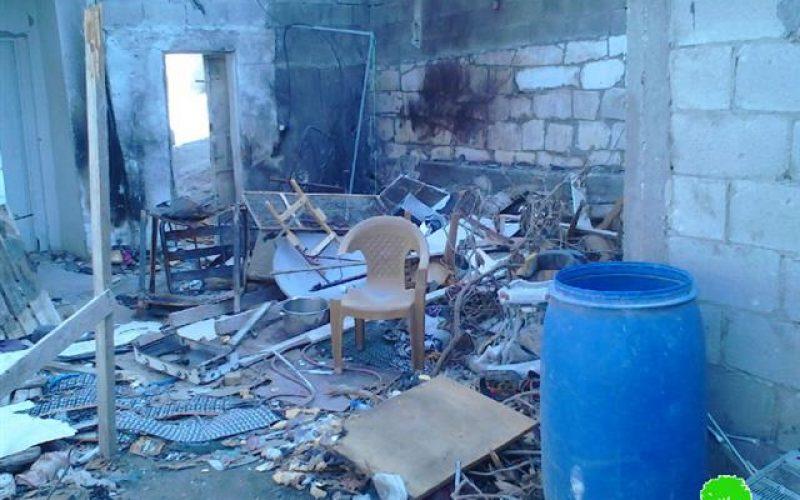 The Israeli occupation forces detonate the residence of Al-Sa'di family in Jenin camp