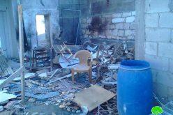 الاحتلال الإسرائيلي يفجر ويدمر مسكن عائلة السعدي في مخيم جنين