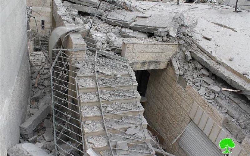بقرار من رئيس وزراء الاحتلال بنيامين نتنياهو, الاحتلال يشرع بتفجير مساكن الشهداء في حيي جبل المكبر والثوري