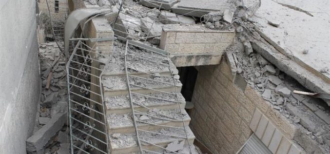 """The occupation army embarks on demolishing the residences of Jerusalemite attackers in the neighborhoods of Al-Mukabbir and Al-Thawri <br>  """"The occupation conducts a policy of collective punishment in Palestinians"""""""