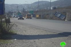 The Israeli occupation sets up a metal gate at Huwwara checkpoint, south Nablus