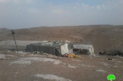 إخطارات بوقف العمل في 4 مساكن بخربة المجاز بمسافر يطا