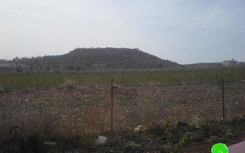 هدم 3 ابار في قرية تعنك غرب محافظة جنين