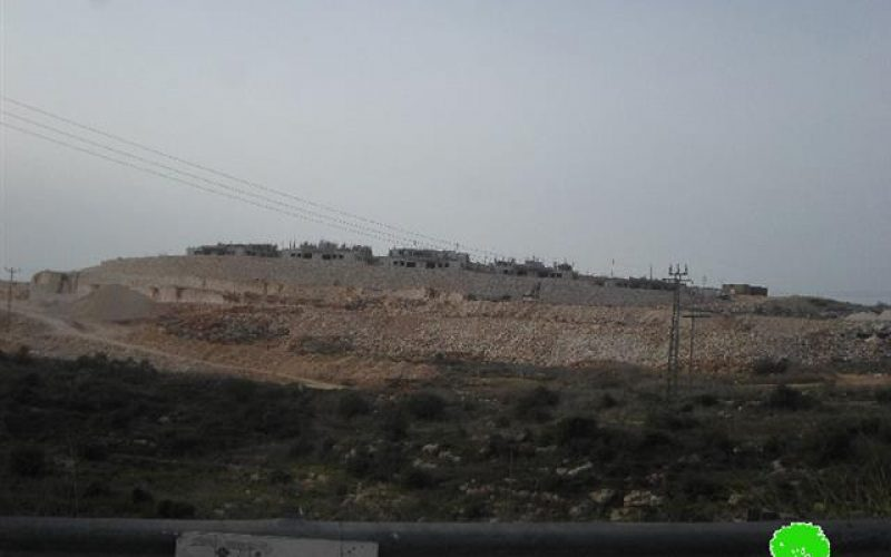 Israeli excavations in the archeological site of Deir Sam'an in Salfit