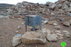الاحتلال يهدم مساكن ومنشآت زراعية شرق سعير / محافظة الخليل