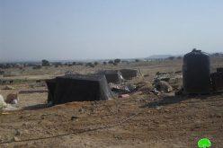 إخطار بهدم مزرعة ومساكن في منطقة فصايل الوسطى