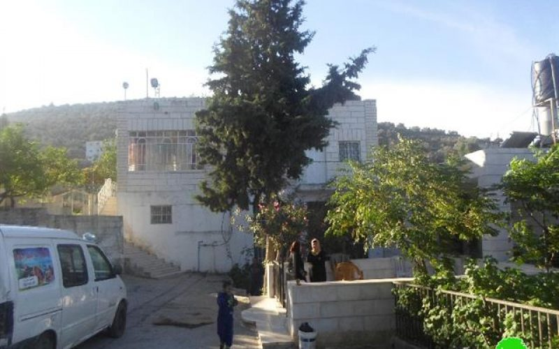 Price Tag colonists attack a house in Ramallah