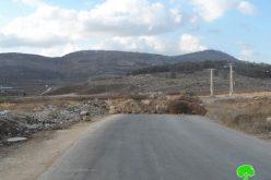 إغلاق  مداخل أربعة قرى جنوب محافظة نابلس