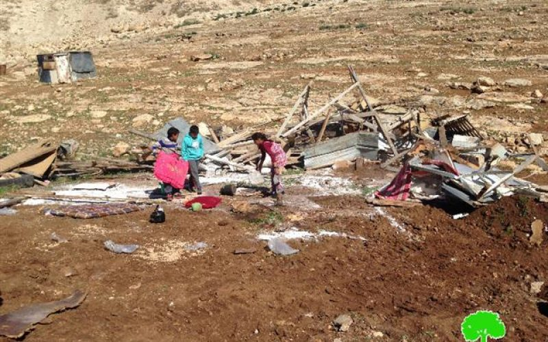 The Israeli Occupation Forces demolish 6 structures in East Jerusalem Bedouin community of Abu Nowar