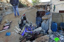 The Israeli occupation army razes house of martyr Muhannad Halabi