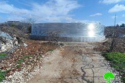الاحتلال يخطر 4 برك زراعية ببلدة بيت أمر بوقف العمل والبناء