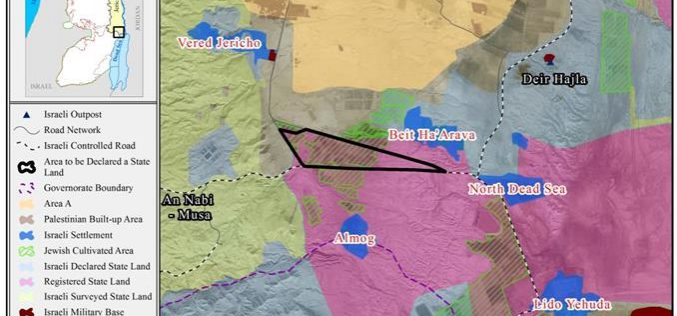 """More than 1500 Dunums to be appropriated under """"State Land"""" Pretext in the Jordan Valley"""