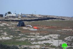 The Israeli Occupation Forces demolish two tents in Susiya hamlet of Hebron