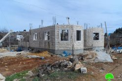 The Israeli Occupation Forces confiscate construction materials from Beit Ummar town
