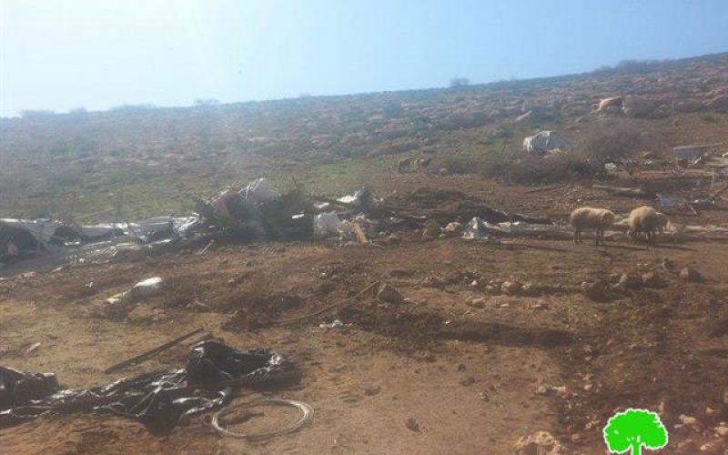 الاحتلال يتحدى الاتحاد الأوروبي ويواصل عمليات هدم المساكن والمنشآت التي أنشأها الأوروبيون في منطقة ذراع عواد في محافظة طوباس