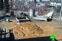 Israeli Occupation Forces notify water well of demolition in the Hebron town of Beit Ummar