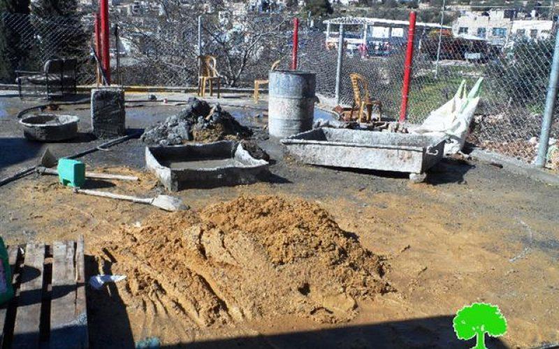 الاحتلال يهدد بهدم بئر مياه في بيت أمر شمال الخليل