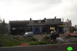 The Israeli Occupation notifies a big part of vegetable central market of demolition and other structures of stop-work in the Nablus town of Beita