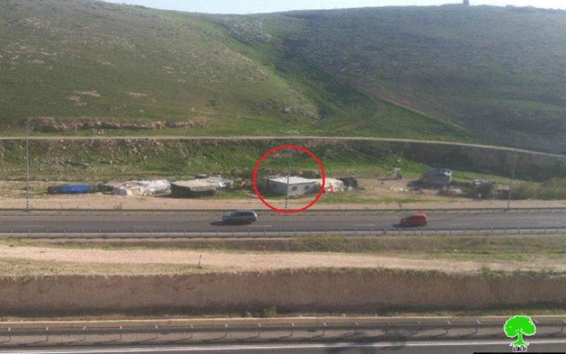 """الاحتلال يهدد بهدم مسكن في تجمع """" أبو فلاح """" شرق القدس المحتلة"""