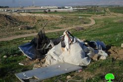 Established by the EU, the Israeli Occupation Forces demolish 33 structures in Tubas governorate