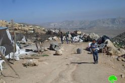 The Israeli Occupation Forces demolish the community of Arab AL-Zawahreh, south Nablus