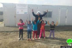 The occupation confiscates the school of Abu Nowar Bedouin community