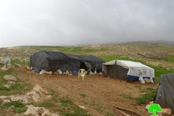 Stop-work orders on structures in Khirbet Al-Fakhit