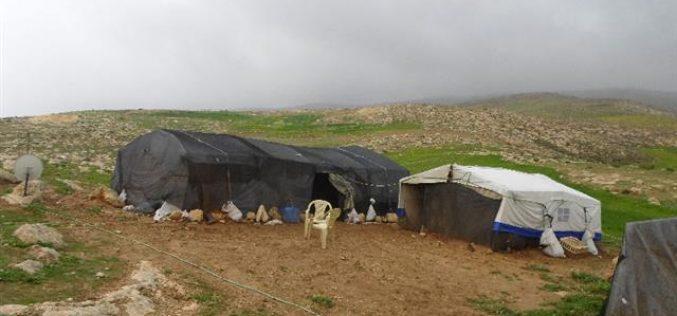 Stop-work orders on structures in Khirbet Al-Fakhit