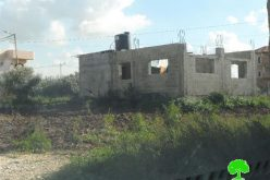 Israeli Occupation Forces demolish a residence in Tulkarm