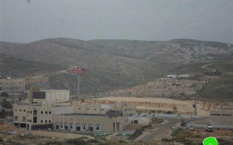 """أعمال توسعة جديدة تشهدها المنطقة الصناعية """"بنيامين"""" على أراضي قرية جبع شمال مدينة القدس"""