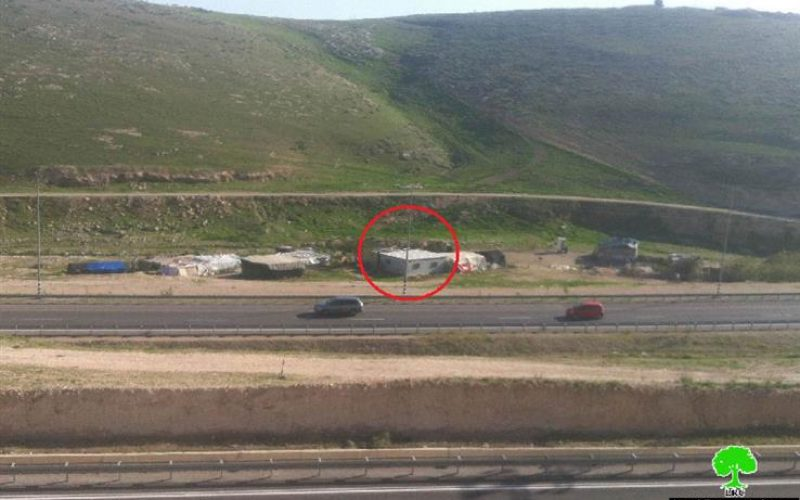 The Israeli Occupation Forces threat a residence of Demolition in East Jerusalem